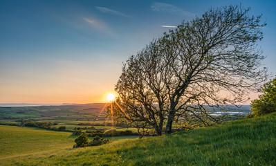 Sunset at Stenbury Down, Isle of Wight