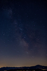 starry sky in summer northern Apennines Italy