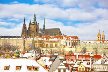 Deurstickers Praag Prague castle