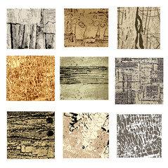 Set of different abstract paintings, vector