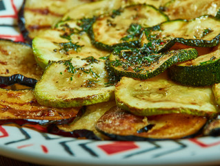 Grilled Vegetables with Zaatar Vinaigrette