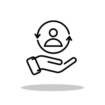 Customer care icon in flat style. Customer satisfaction symbol for your web site design, logo, app, UI Vector EPS 10.