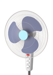 Floor fan on a white background (close-up, 3d illustration).