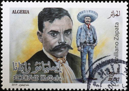 Mexican revolutionary Emiliano Zapata on postage stamp