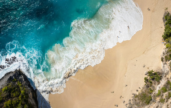 Top View Of Kelingking Beach at Nusa Penida, Bali - Indonesia