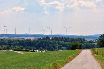 Windparkanlage im Ostalbkreis