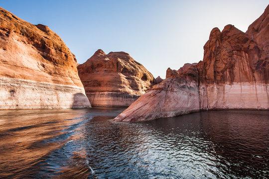 Sunset. Grandiose cliffs