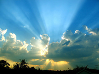 Canvas Prints Heaven sky with clouds