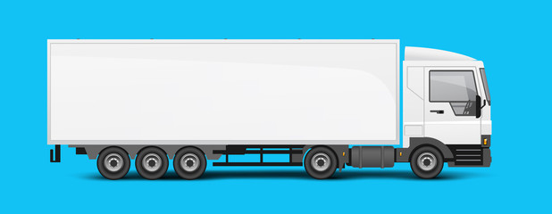 Large Lorry Truck Logisitcs Concept