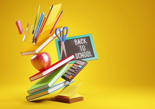 Back To School Items Background