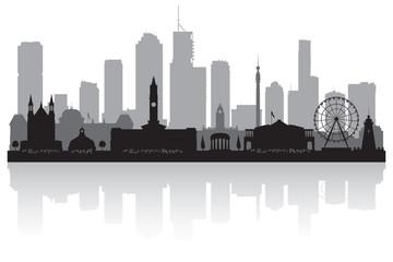 Wall Mural - Brisbane Australia city skyline silhouette