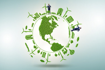 Concept of clean energy and environmental protection