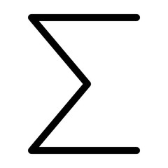 symbol sigma, a greek alphabet used as sum of series