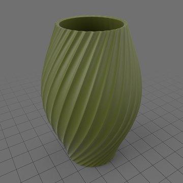 Modern twisted vase