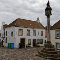 Small old house in Culross, Scotland, UK