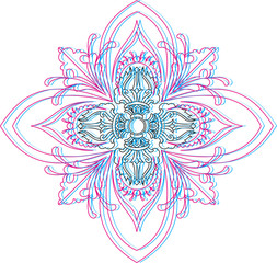Mandala vajra ornament yoga meditation