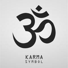karma symbol zen balance icon