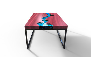 3D illustration of a cool table on a white backgrounda