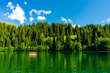 A beautiful lake landscape from Borcka Karagol Nature Park