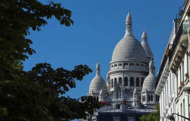 The famous basilica Sacre Coeur , Paris, France.