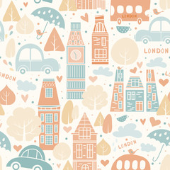 London pattern seamless design graphic