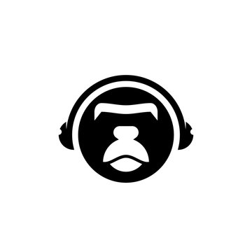 Headphone Ape For E-Sport Team Or Multimedia Company Logo