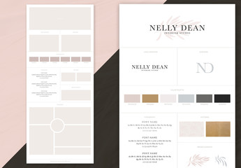 Simple Brand Board Layout