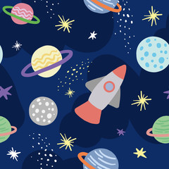 space pattern seamless design graphic