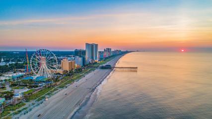 Myrtle Beach South Carolina Drone Skyline Aerial