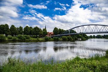 Wesertor-Brücke Nienburg Fototapete