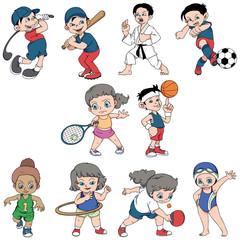 collection pack sport children activity