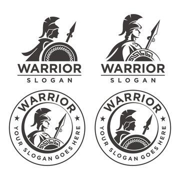 Athena Warrior Emblem logo