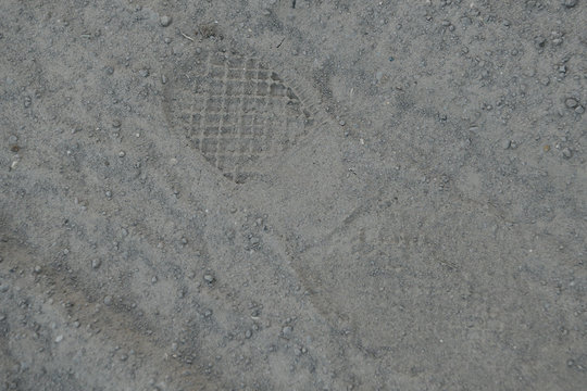 A fresh shoe print is seen close to where U.S. Border Patrol agents apprehended a group of migrants who illegally crossed the Rio Grande near Mission