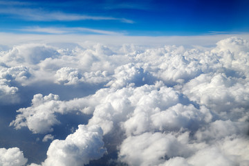 Canvas Prints Take aerial photos of the sea of clouds on the plane.