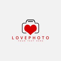 Love photo logo design template vector isolated