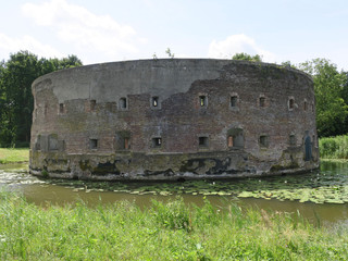 historic old round fortress near Weesp in the Netherlands