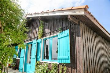 maisons typiques du bassin d'arcachon, FRANCE