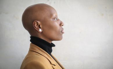 Studio portrait of a beautiful alternative woman