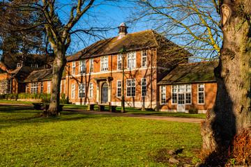 bournville suburb of birmingham built bu the cadbury family english midlands england uk