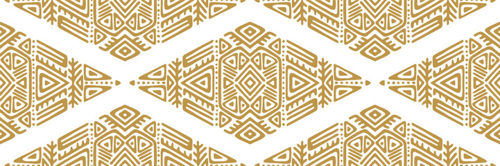 African Ethnic Style Vector Seamless Pattern