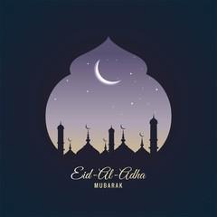 Eid Al Adha card background illustration vector