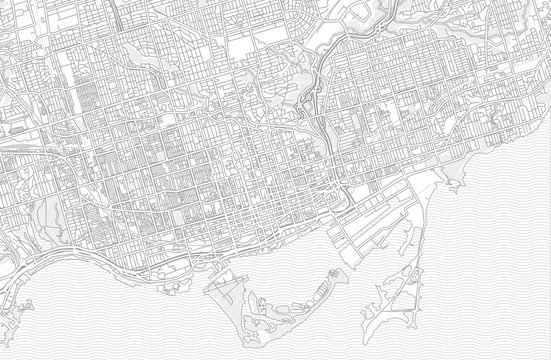 Toronto, Ontario, Canada, bright outlined vector map