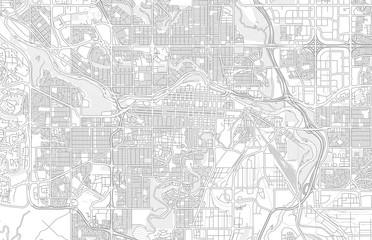 Calgary, Alberta, Canada, bright outlined vector map
