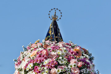 Statue of the image of Our Lady of Aparecida