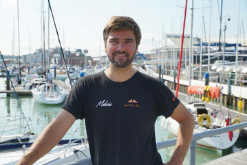 Boris Herrmann, German race skipper, who has offered to sail climate change activist Greta Thunberg from the United Kingdom to the U.S. in mid August, poses for a picture in Cowes