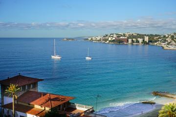 view at Cala Major beach, Spain, Palma de Mallorca