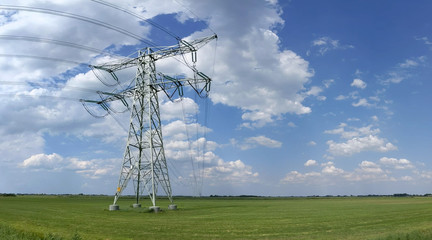 Electricity pylon in Friesland