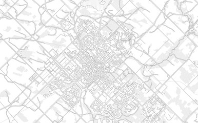 Guelph, Ontario, Canada, bright outlined vector map Wall mural