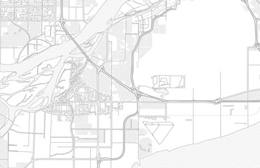 Delta, British Columbia, Canada, bright outlined vector map