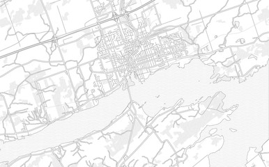Belleville, Ontario, Canada, bright outlined vector map Wall mural